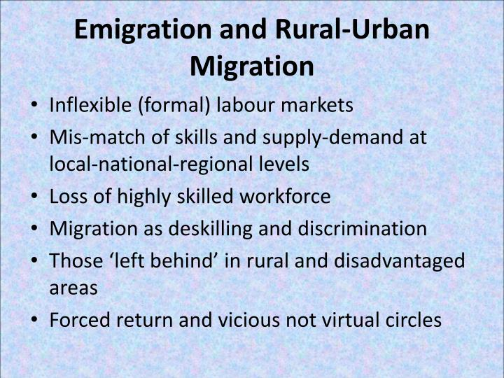 Emigration and Rural-Urban Migration