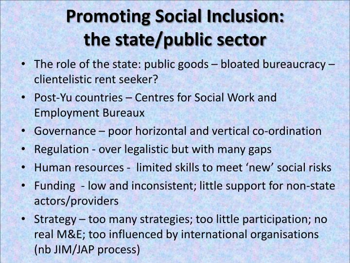 Promoting Social Inclusion: