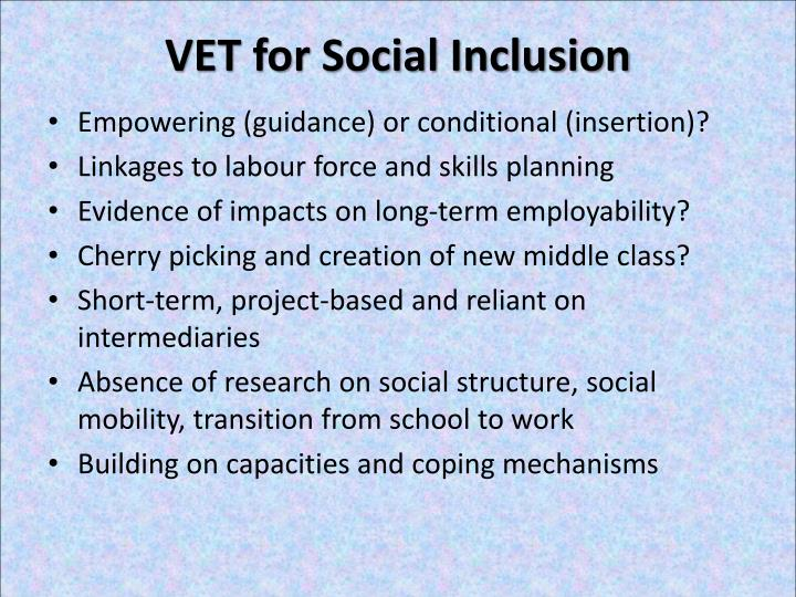 VET for Social Inclusion