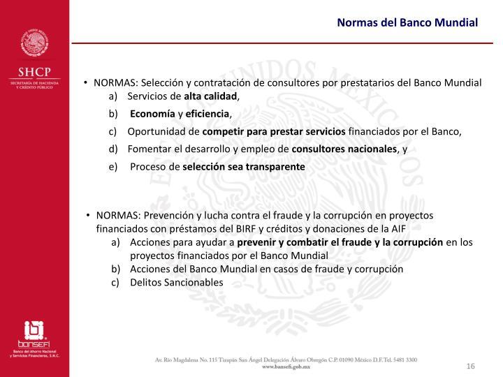 Normas del Banco Mundial