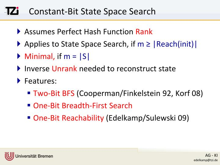 Constant-Bit State Space