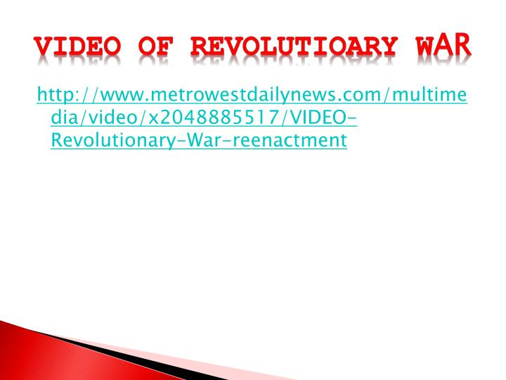 VIDEO OF REVOLUTIOARY W