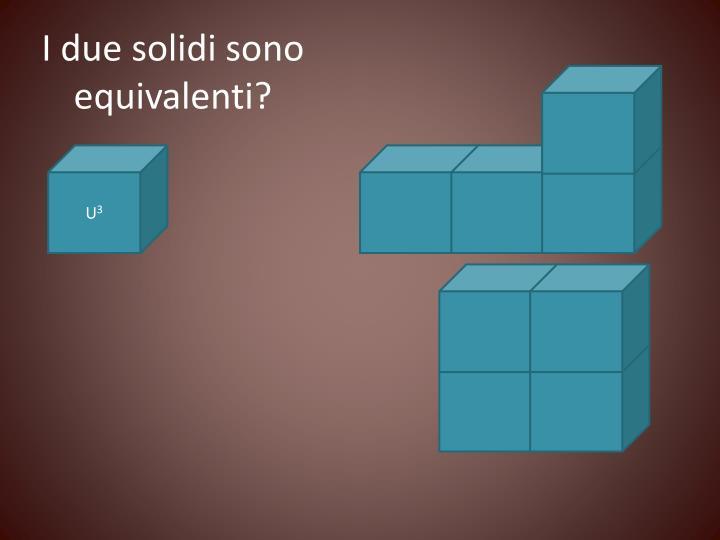 I due solidi sono equivalenti?