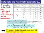 n p ratio and asymmetry parameter nm