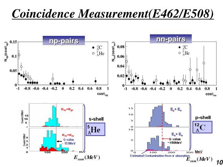 Coincidence Measurement(E462/E508)