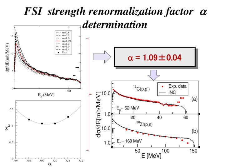 FSI  strength renormalization factor