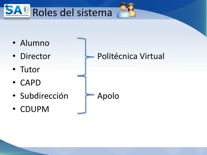 Roles del sistema