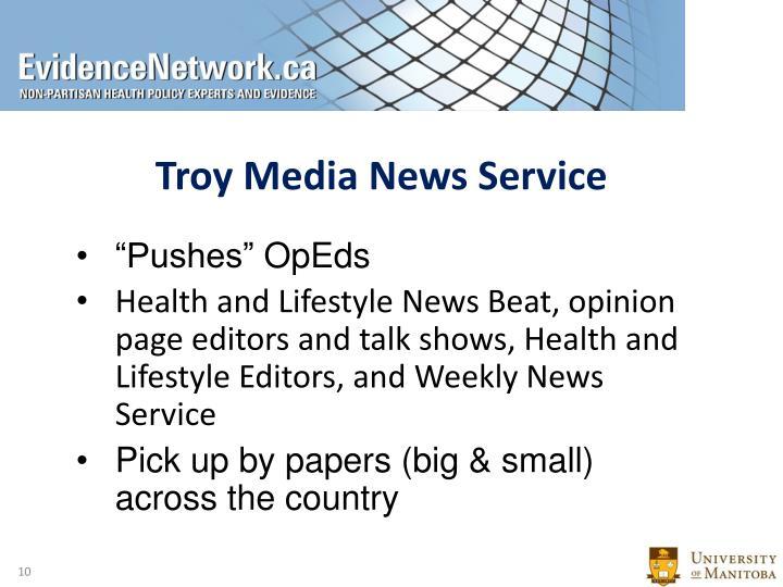 Troy Media News Service