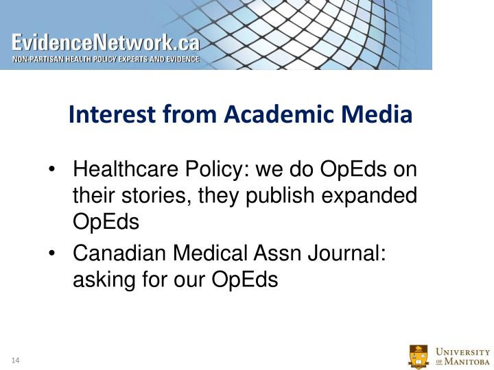 Interest from Academic Media
