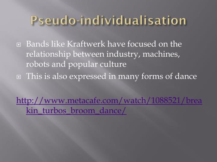 Pseudo-individualisation