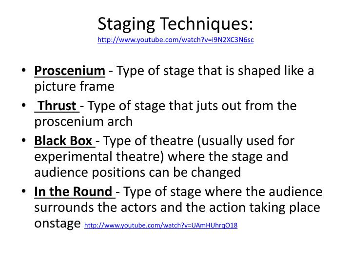 Staging Techniques: