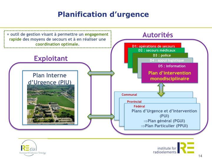 Planification d'urgence