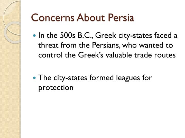 Concerns About Persia