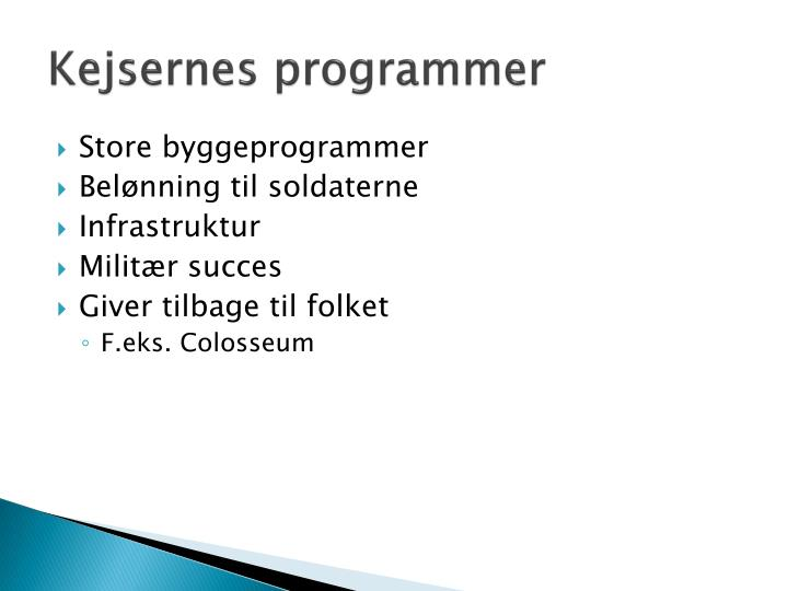 Kejsernes programmer