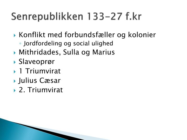 Senrepublikken 133-27
