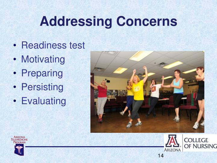 Addressing Concerns