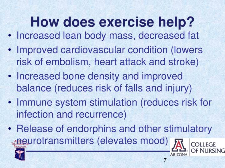 How does exercise help?