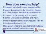 how does exercise help