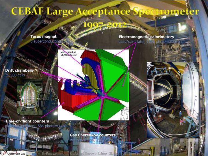 CEBAF Large Acceptance Spectrometer 1997-2012