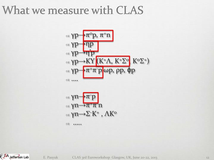 What we measure with CLAS
