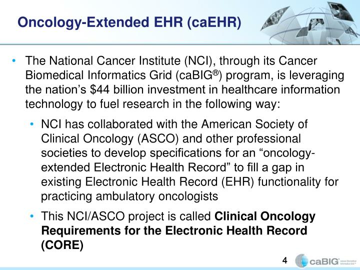 Oncology-Extended EHR (caEHR)