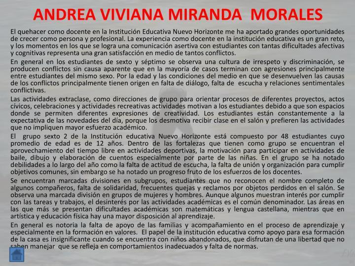 ANDREA VIVIANA MIRANDA  MORALES