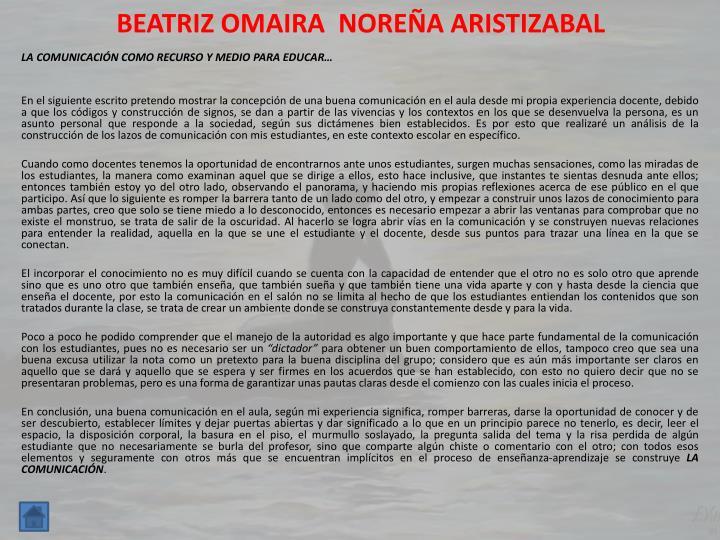 BEATRIZ OMAIRA