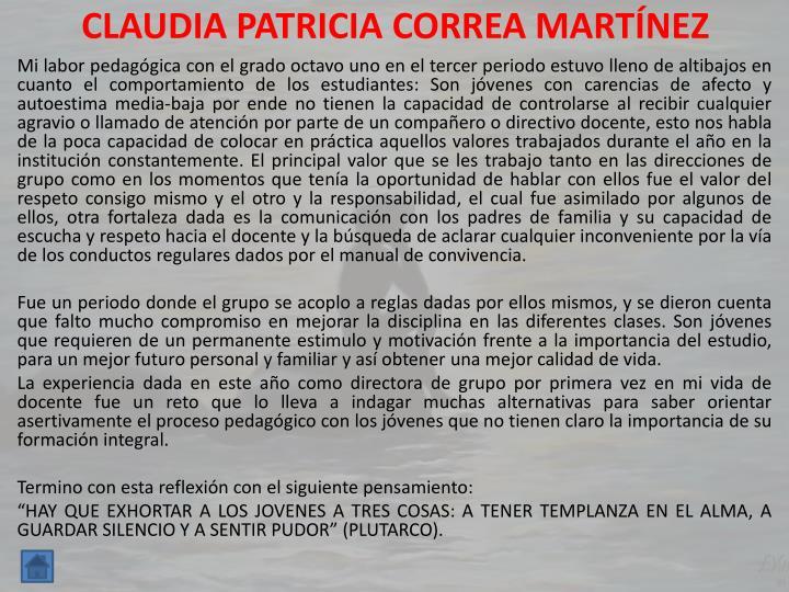CLAUDIA PATRICIA CORREA MARTÍNEZ