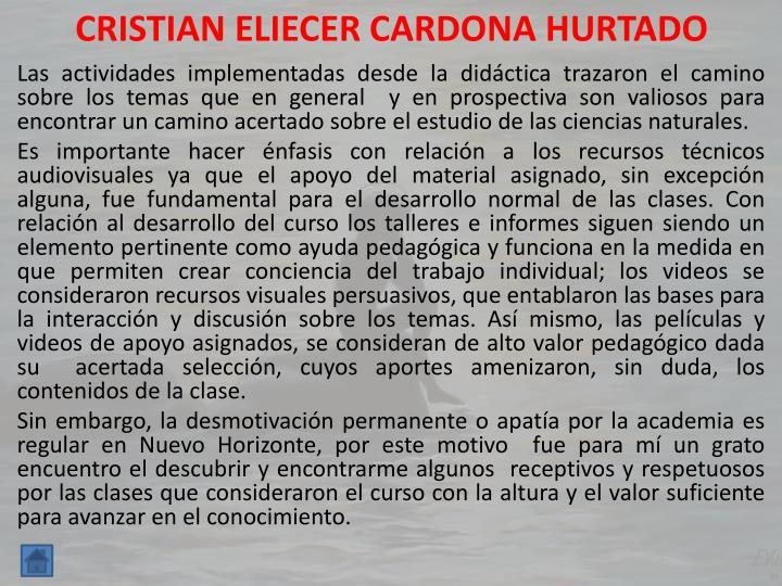 CRISTIAN ELIECER CARDONA HURTADO