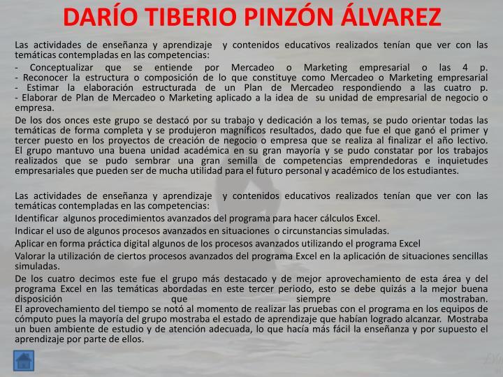 DARÍO TIBERIO PINZÓN ÁLVAREZ