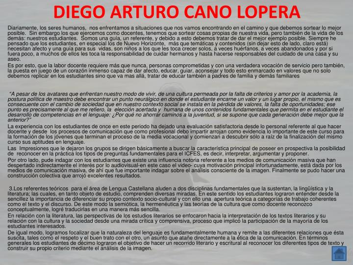 DIEGO ARTURO CANO LOPERA