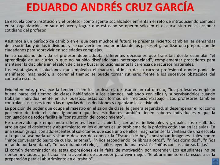 EDUARDO ANDRÉS CRUZ GARCÍA