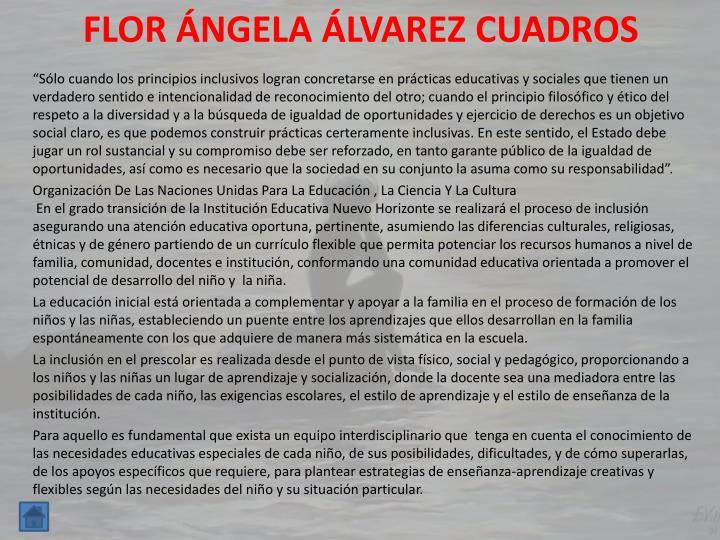 FLOR ÁNGELA ÁLVAREZ CUADROS