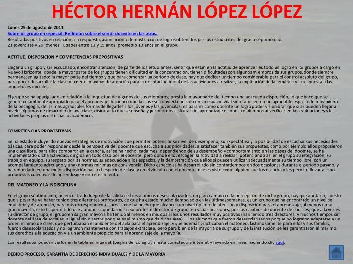 HÉCTOR HERNÁN LÓPEZ