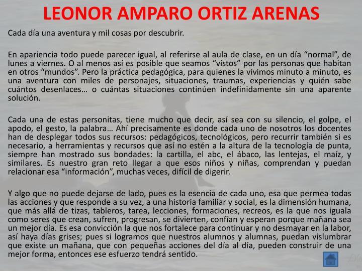 LEONOR AMPARO ORTIZ ARENAS