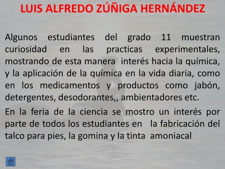 LUIS ALFREDO ZÚÑIGA HERNÁNDEZ