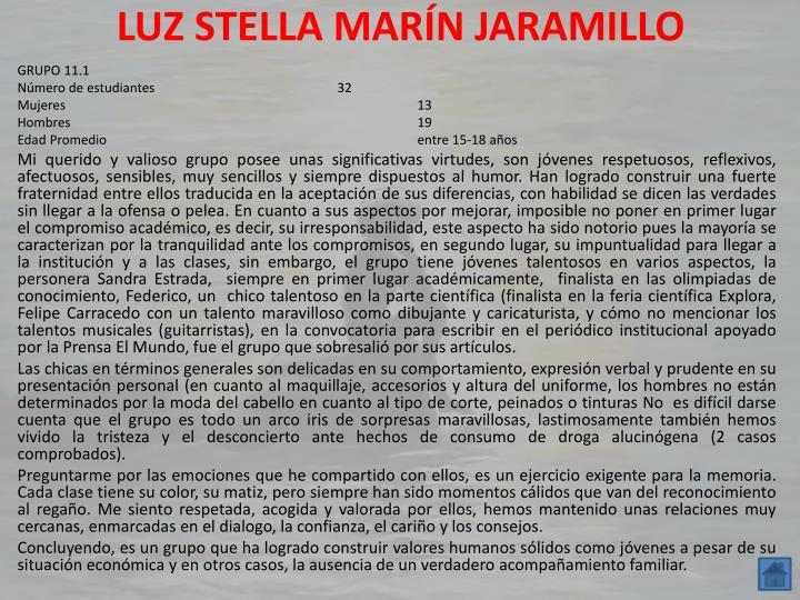 LUZ STELLA MARÍN JARAMILLO