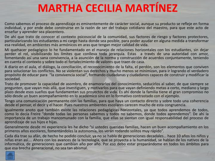 MARTHA CECILIA MARTÍNEZ