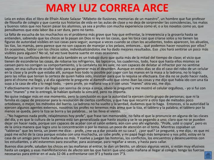 MARY LUZ CORREA ARCE