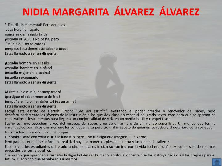 NIDIA MARGARITA  ÁLVAREZ