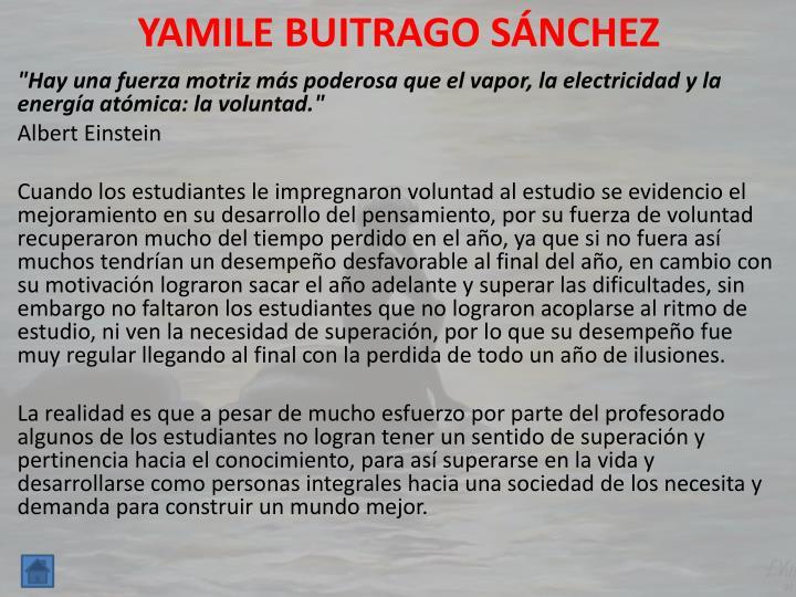 YAMILE BUITRAGO SÁNCHEZ