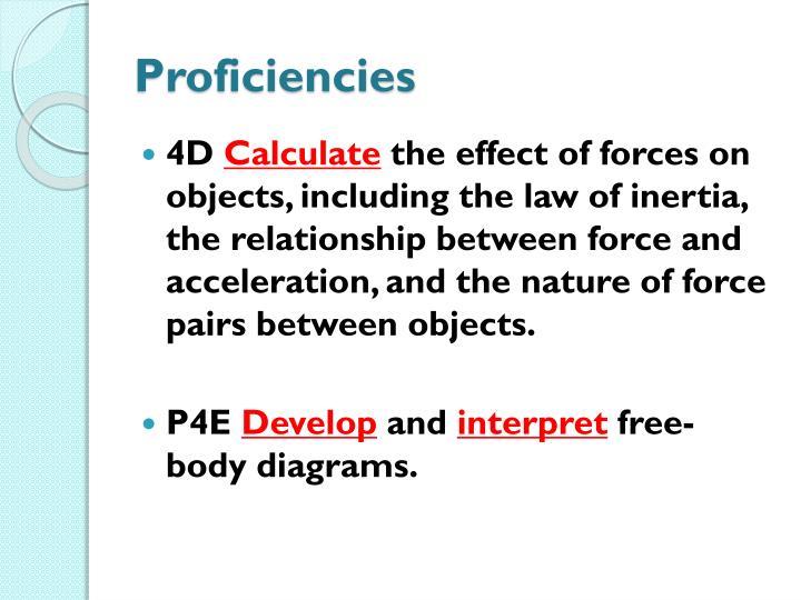 Proficiencies
