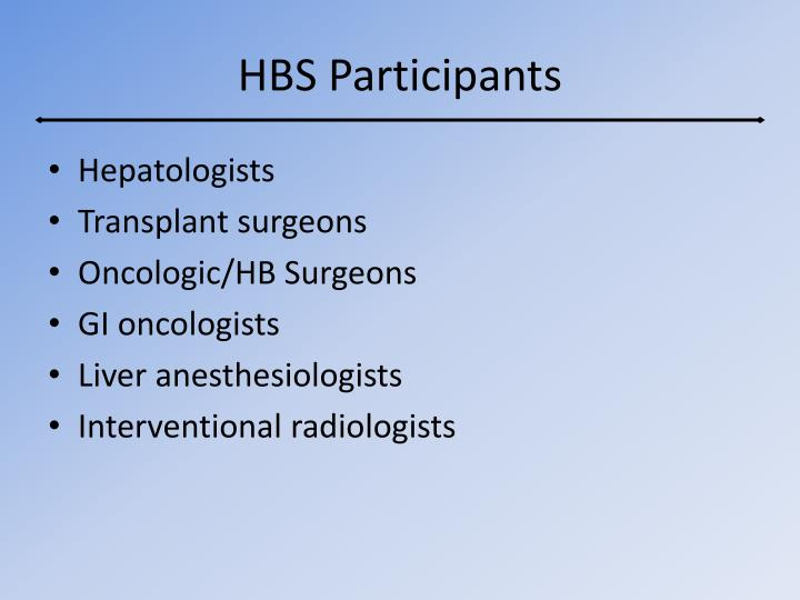 HBS Participants