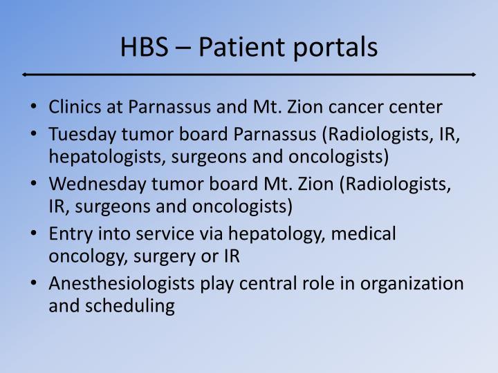 HBS – Patient portals