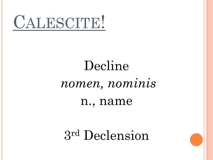 Calescite