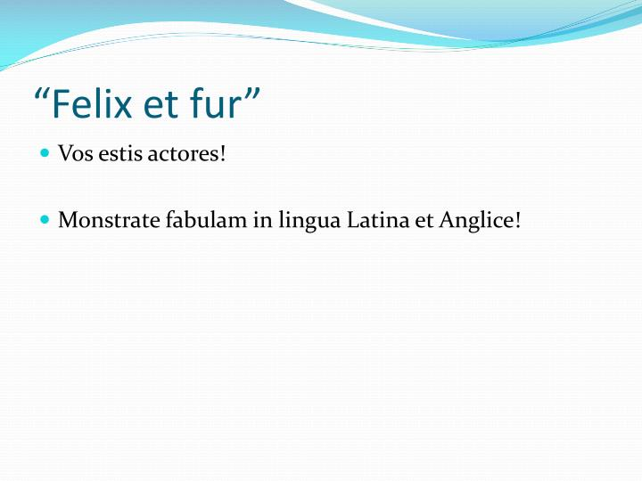 """Felix et fur"""