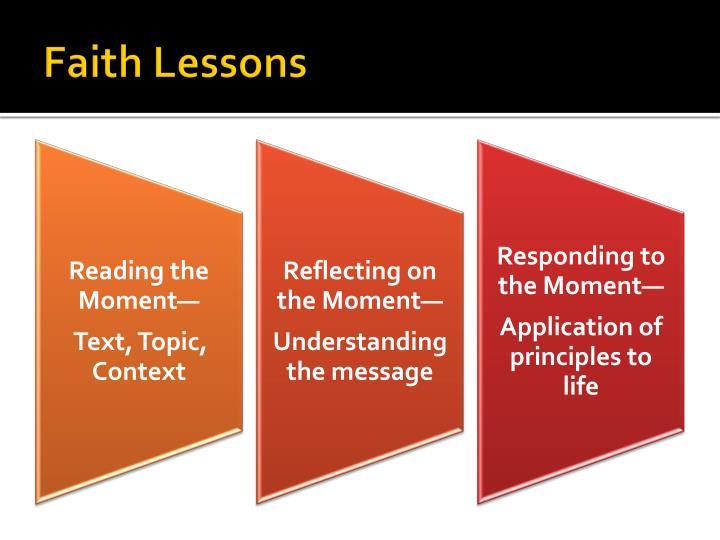 Faith Lessons
