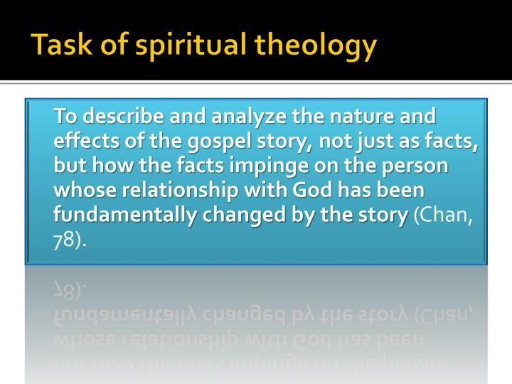 Task of spiritual theology