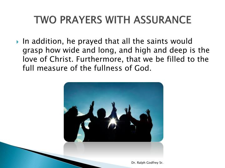 TWO PRAYERS WITH ASSURANCE