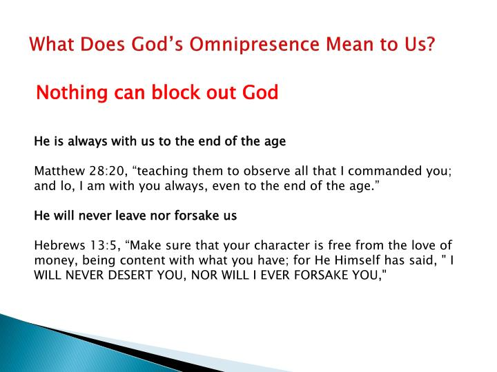 What Does God's Omnipresence Mean to Us